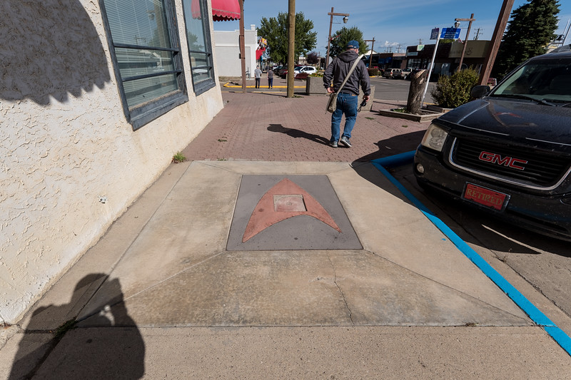 Star Trek on the sidewalk