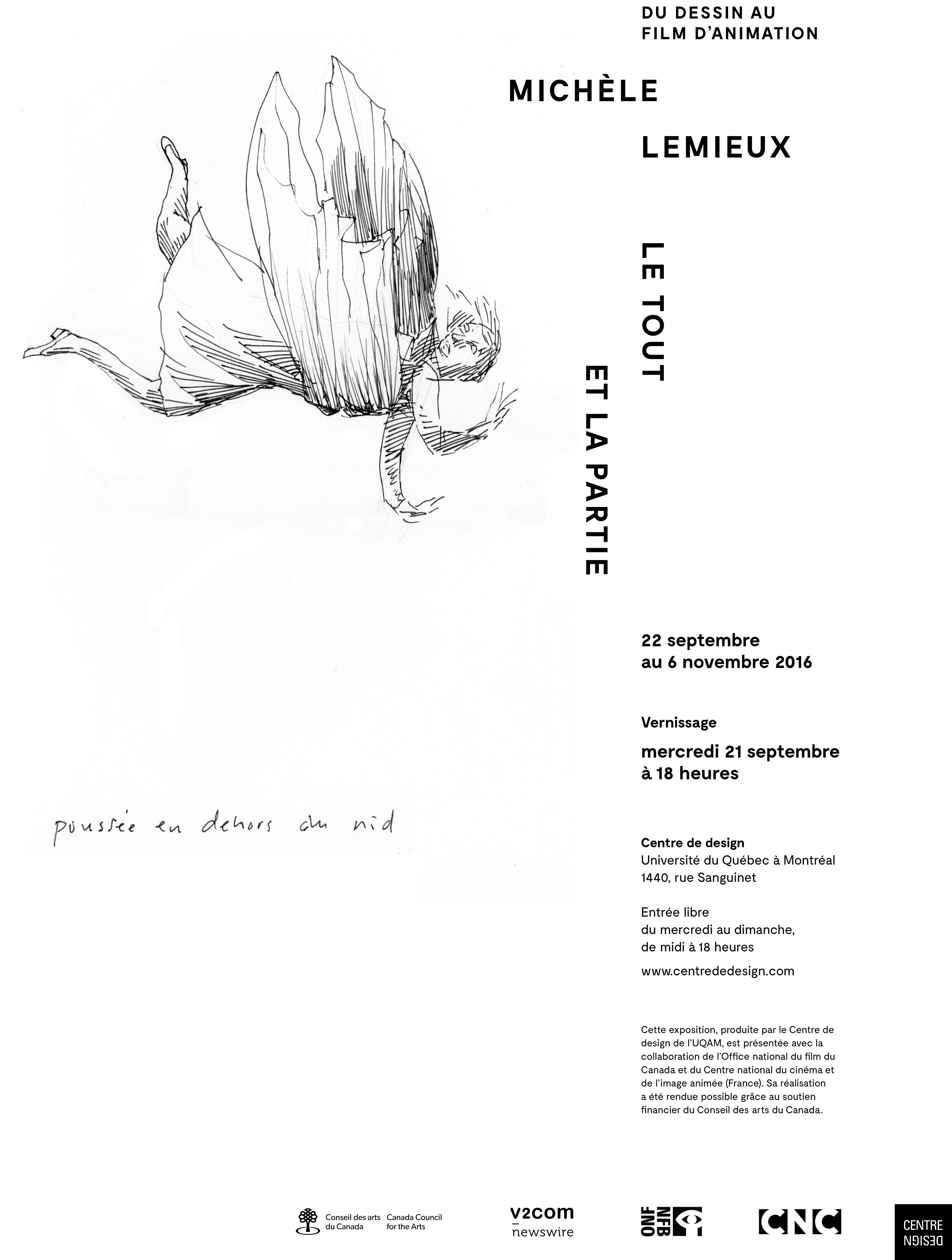 2016 - Exposition - Le tout et la partie Michèle Lemieux du dessin au film d'animation_ Version B