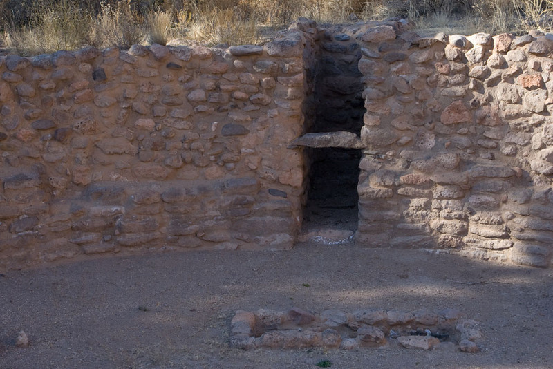 Looking into one of the kivas at the largest town.