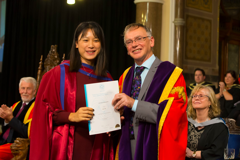 02/11/2017. Waterford Institute of Technology Conferring is Wei Tan who was conferred a PhD, also pictured is Prof. Willie Donnelly, President of WIT.  Picture: Patrick Browne.