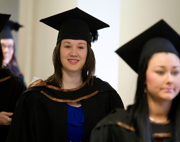 6/1/2012. News. Free to use image. Waterford Institute of Technology (WIT) conferring ceremony. Pictured is Roisin Lyne, Cahersiveen, Co. Kerry who graduated with a Bachelor of Arts (Honours) in Applied Social Studies in Social Care. Photo Patrick Browne