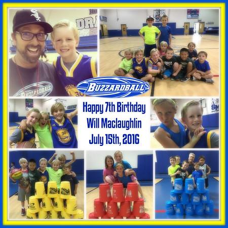 JULY 15TH, 2016 | Will Maclaughlin 7th Birthday