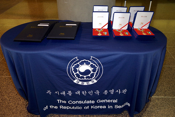 South Korean Peace Medal Ceremony October 2017