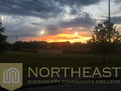 2019-04-27 SB Sunset over Carnell Field - Final Game