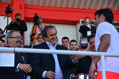 Lincoln Red Imps completed a triple affirming their place as the leading football team in Gibraltar after beating College 1-0 in the Rock Cup Final at Victoira Stadium, the first since Gibraltar joined UEFA. The match was presided by UEFA president Michel Platini who presented the trophy to Lincoln. They will now play in the European Champions League Qualifiers.