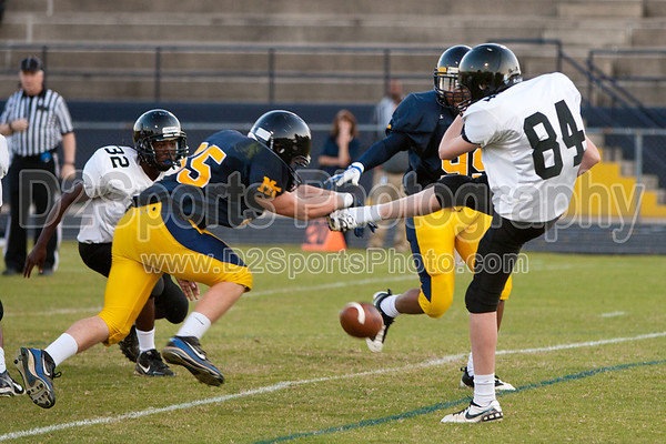 Mt Tabor Spartans vs RJR Demons JV Football 10/6/2011