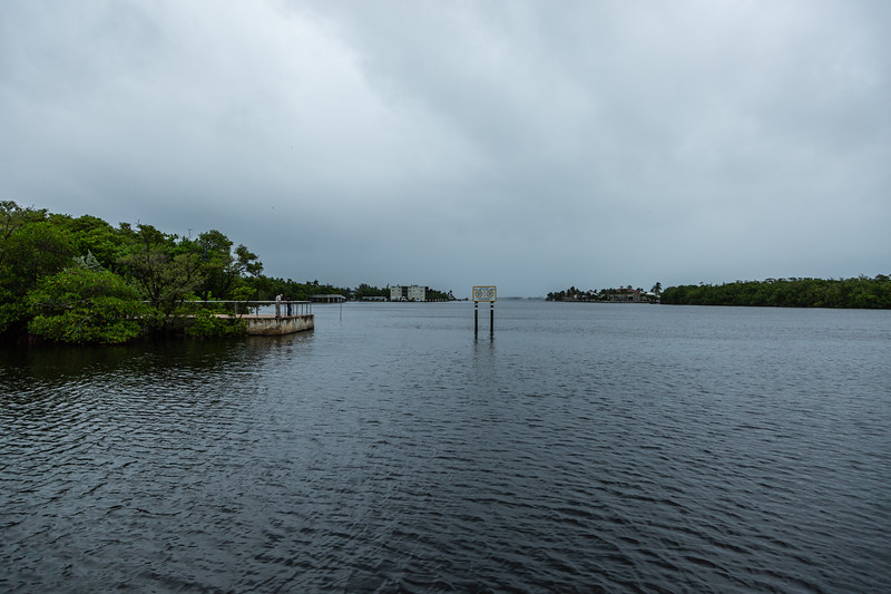 The Intracoastal Waterway is devoid of boat traffic in Boynton Beach on Tuesday, September 3, 2019, as Hurricane Dorian begins to slide up north, just off Florida's east coast. [JOSEPH FORZANO/palmbeachpost.com]