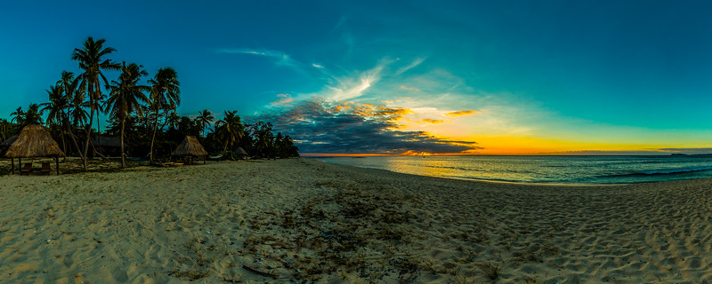 Beach Sunset at Yasawa Island Resort & Spa