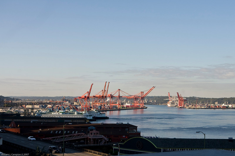 Seattle  Bay View from behind the Pikes Public Market