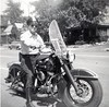 Harry Miller on police motorcycle