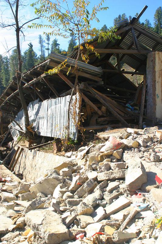 Total devastation in one of the villages.