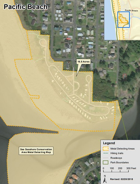Pacific Beach State Park (Metal Detection Areas)