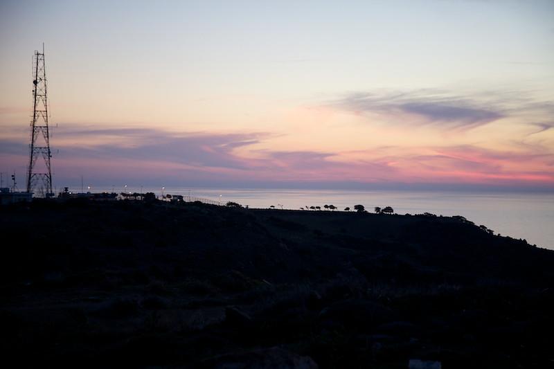 Spectacular sunset in Trahonas