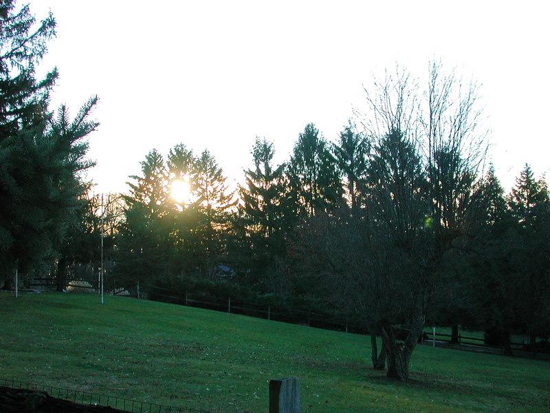 The sun rising on a nice clear morning Jan 1, 2007.