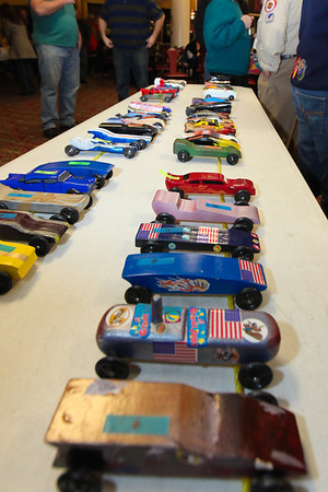 Pinewood Derby races- 2-19-12