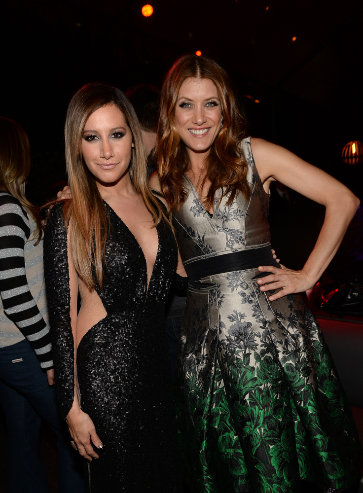 ". Actresses Ashley Tisdale and Kate Walsh attend the after party for the premiere of Dimension Films\' ""Scary Movie 5\"" at  on April 11, 2013 in Hollywood, California.  (Photo by Michael Buckner/Getty Images)"