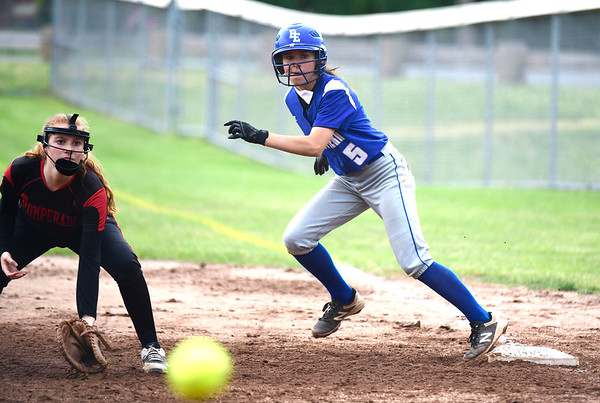 5/30/2019 Mike Orazzi | Staff Bristol Eastern's Taylor Keegan (5) during the Class L Second Round softball game in Bristol Thursday.