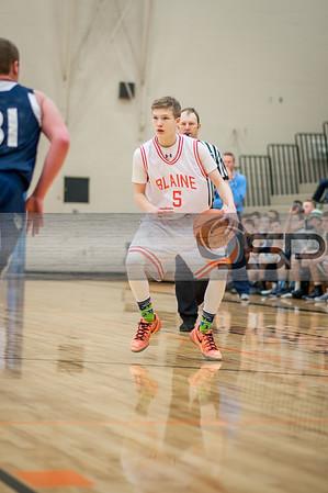 2015-1-10 Lynden Christian at Blaine JV Boys Basketball