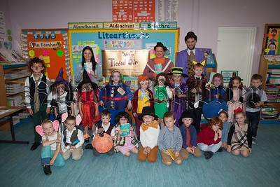 To celebrate Roald Dahl's 100th Birthday children at Bunscoil an Luir dressed up as their favourite characters  from his books. R1638013