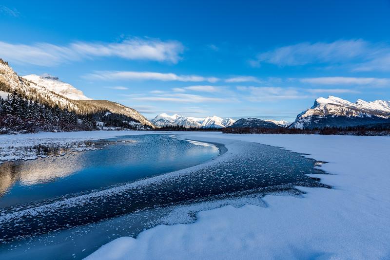 Frozen Vermillion Lakes
