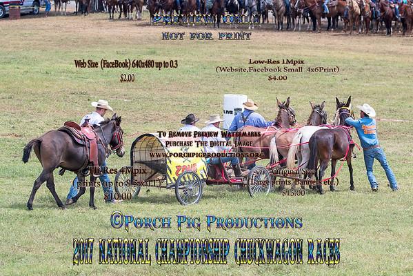 2017 4 up Mules Saturday National Championship Chuckwagon Races