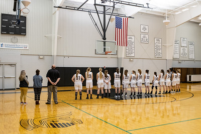Lutheran Westland girls varsity basketball 20/21