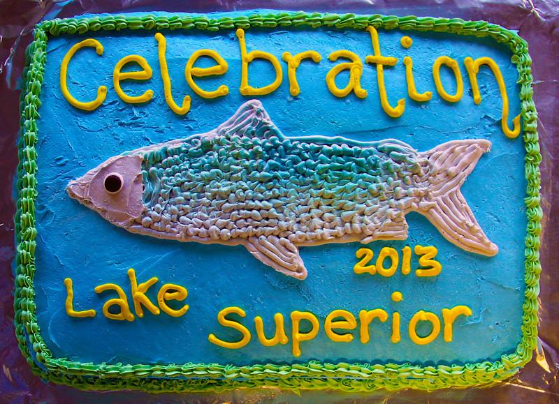 That evening, we enjoy a celebratory cake.