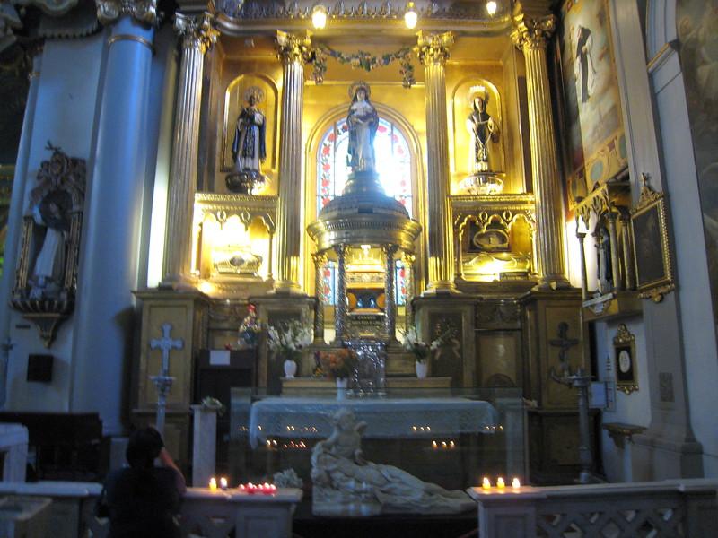 Altar of St. Martin de Porres - Skull Relic, Basilica de Santo Domingo, Lima, Peru