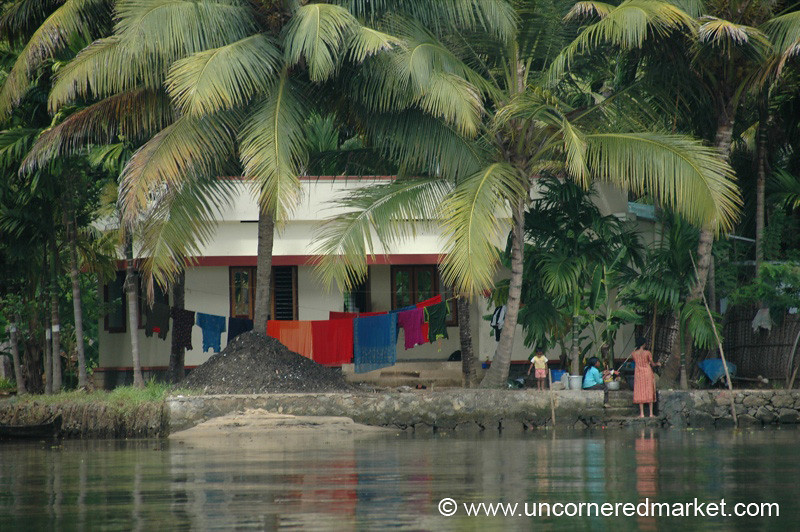 Living on the Water - Kerela Backwaters, India
