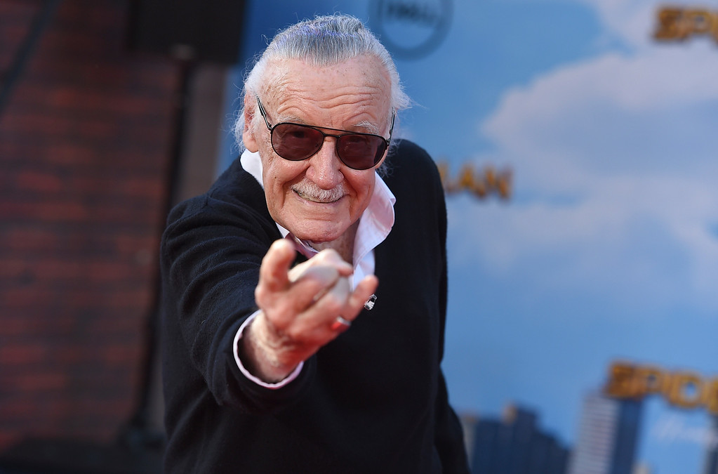 """. Stan Lee arrives at the Los Angeles premiere of \""""Spider-Man: Homecoming\"""" at the TCL Chinese Theatre on Wednesday, June 28, 2017. (Photo by Jordan Strauss/Invision/AP)"""