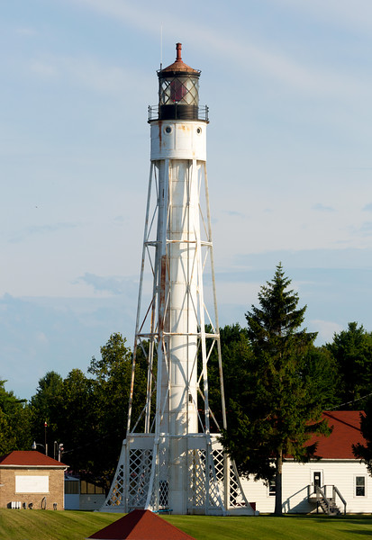 A closer view of the Canal Lighthouse