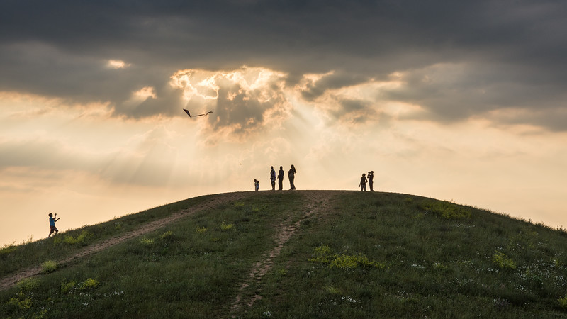 Kite flying at Northala Fields