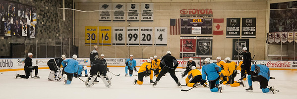 L.A Kings practice - and Anze Kopitar afterwards