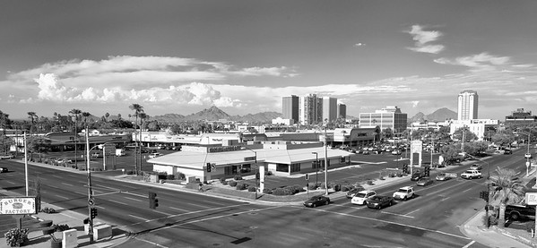 Elevated Aerial Mast Photograph of Commercial Real Estate in Phoenix AZ