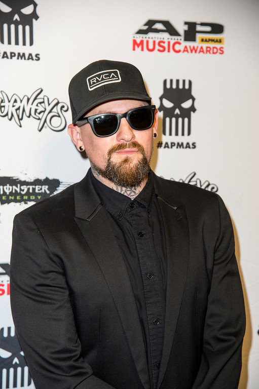 . Benji Madden of Good Charlotte seen at 2017 Alternative Press Music Awards at the KeyBank State Theatre on Monday, July 17, 2017, in Cleveland. (Photo by Amy Harris/Invision/AP)