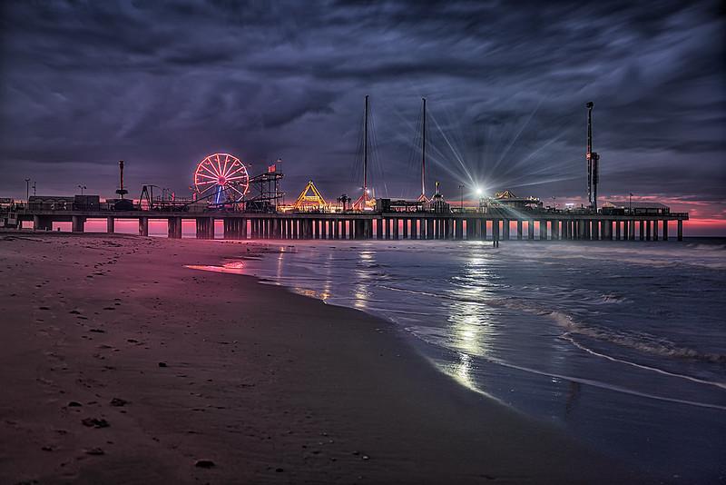 Sunrise at the Steel Pier, Atlantic City
