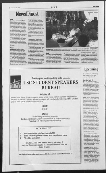 Daily Trojan, Vol. 156, No. 27, September 29, 2005