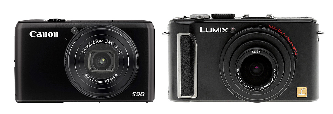 Canon S90 IS design is similar to LX3, but it is a bit smaller