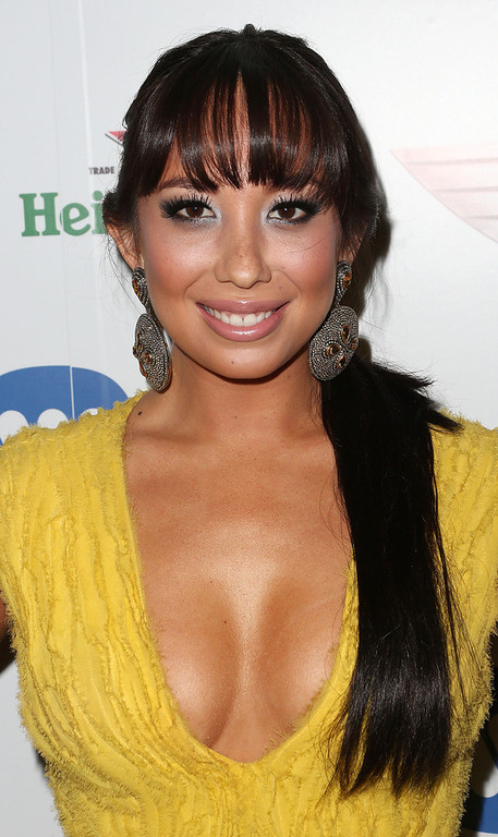 . Dancer Cheryl Burke attends Warner Music Group\'s 2013 Grammy Celebration at Chateau Marmont\'s Bar Marmont on February 10, 2013 in Hollywood, California.  (Photo by Frederick M. Brown/Getty Images)