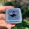 2.08ctw Sapphire and Diamond Ring, GIA No-Heat 18