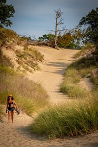 Indiana Dunes State Park Devil's Slide Hiker