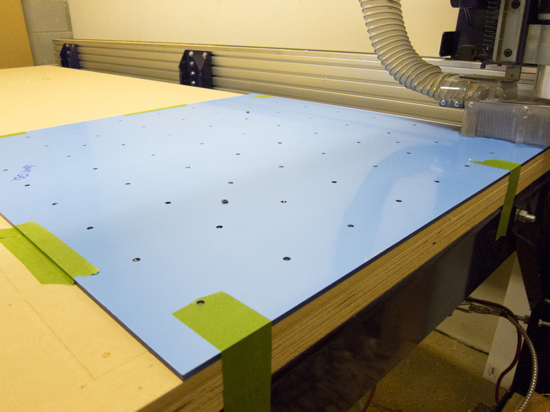 Maching the back panel in 6mm White High Gloss acrylic