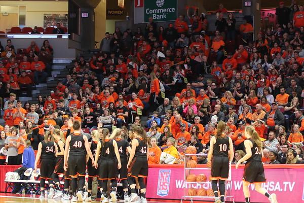 February 22, 2019 - Hillsboro Girls Basketball vs. Chicago Marshall