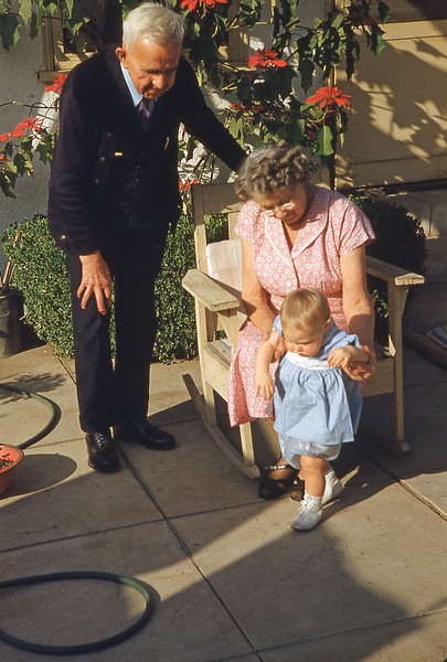 Grandpa & Grandma with Anne 1953