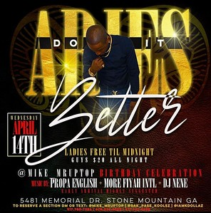 ARIES DO IT BETTER MIKE UP TOP BIRTHDAY BASH