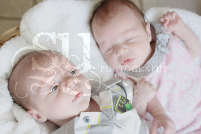 Ayden Michael and Alaina Marie-Newborn Session 2012