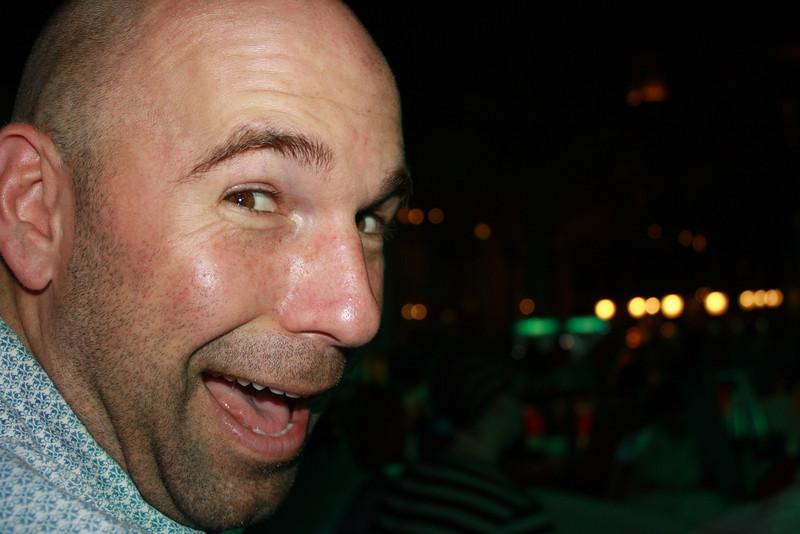 Chris loving those free Heinekens!