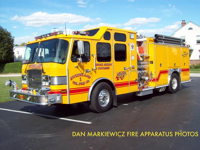 SWEDELAND VOLUNTEER FIRE CO. ENGINE 48 2004 E-ONE PUMPER