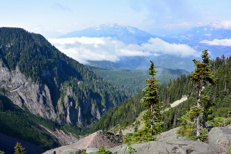 the view from The Barrier, along the hike up to Garibaldi Lake