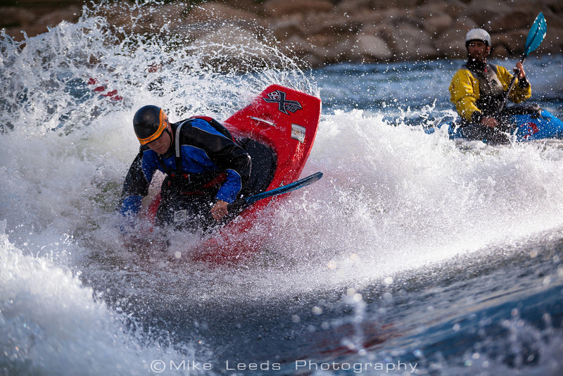Will Parham at the Boise Whitewater Park on a May evening.